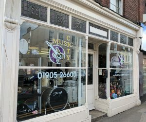 music city worcester shopfront