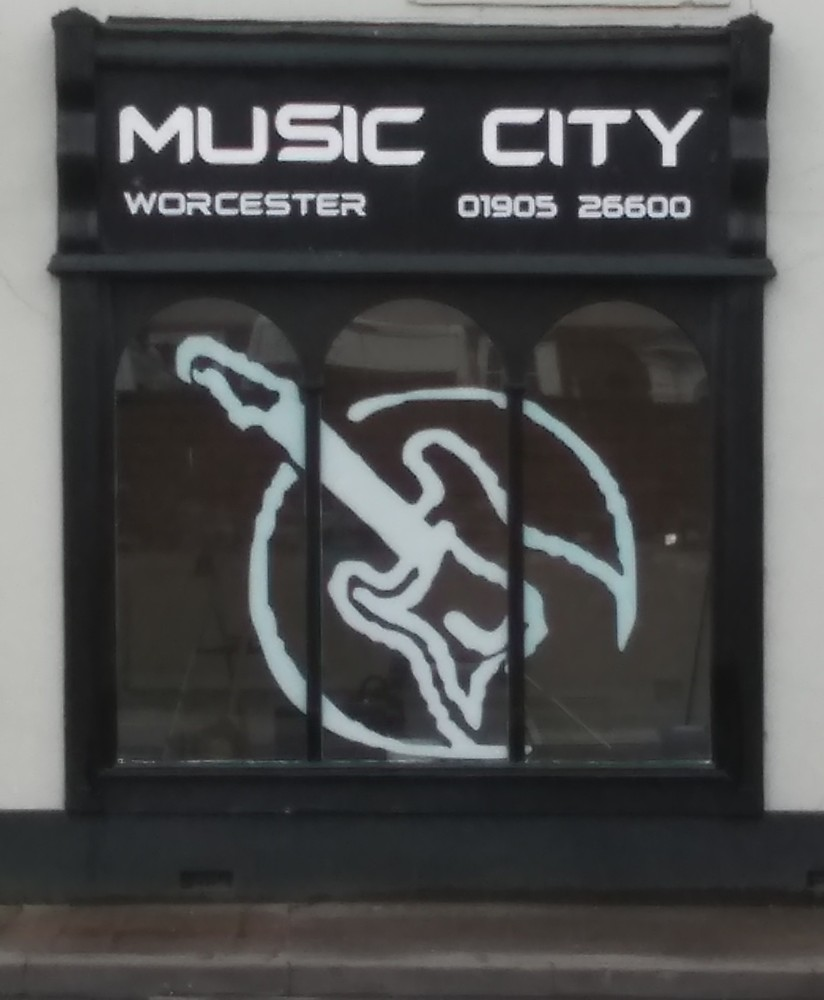 Music City Worcester shop front